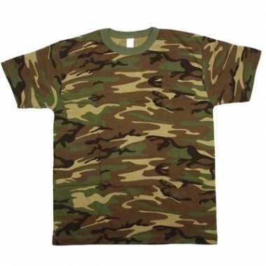 Army camouflage t shirt korte mouw