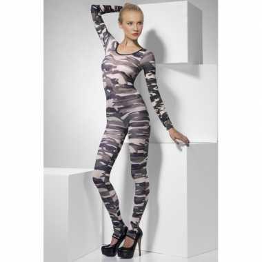 Bodysuit camouflage print dames