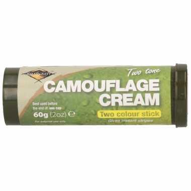 Bruine/groene camouflage creme/stift gram