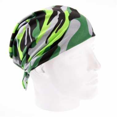 Camouflage bandana bij