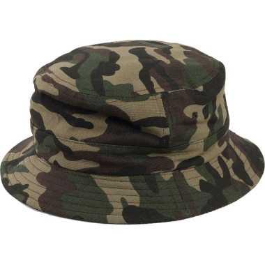 Camouflage hoed volwassenen groen one size