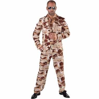 Camouflage kostuum delig heren