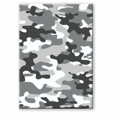 Camouflage/legerprint luxe wiskunde schrift/notitieboek grijs ruitjes mm a formaat