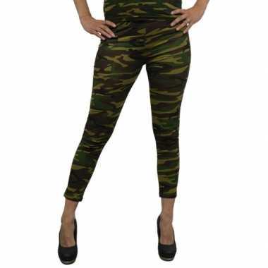 Camouflage legging dames