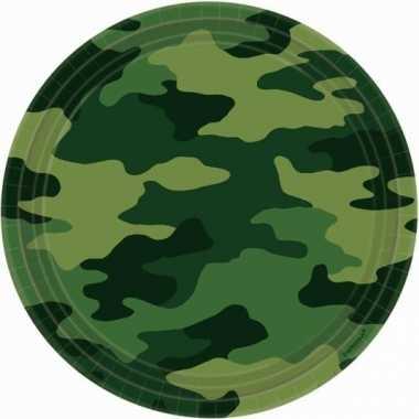 Camouflage print bordjes stuks