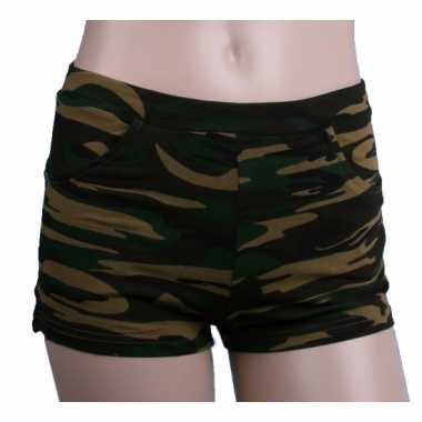 Camouflage print hotpants dames