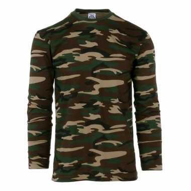 Camouflage shirt heren lange mouw