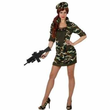 Camouflage soldaat verkleed kostuum/jurk dames