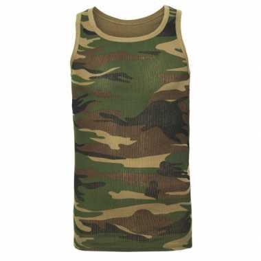 Camouflage tanktop heren