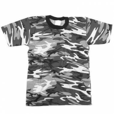 Grijs camouflage t shirt korte mouw