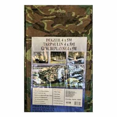 Groen camouflage afdekzeil dekzeil bij meter 10162614