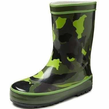 Groene kinder regenlaarzen camouflage print