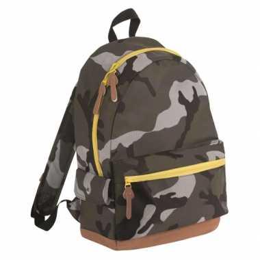 Junior camouflage schooltas rugtas rugzak