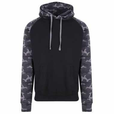 Just hoods capuchon sweater camouflage/black heren