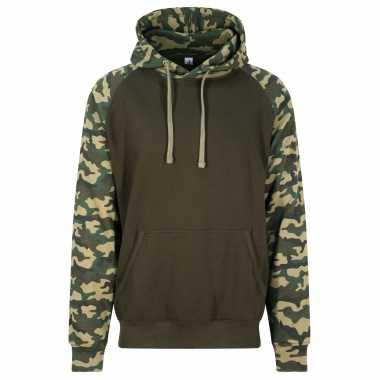 Just hoods capuchon sweater camouflage/green heren
