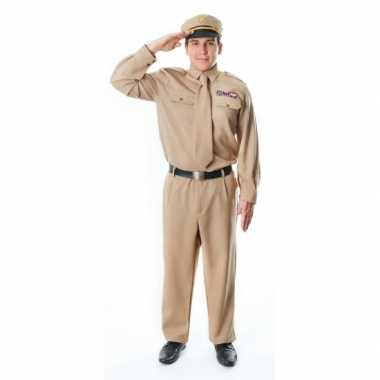 Kaki officier kostuum