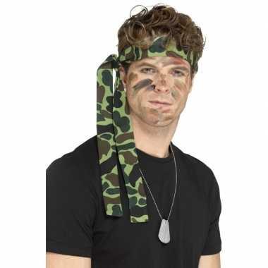 Leger accessoires verkleedset ketting hoofdband