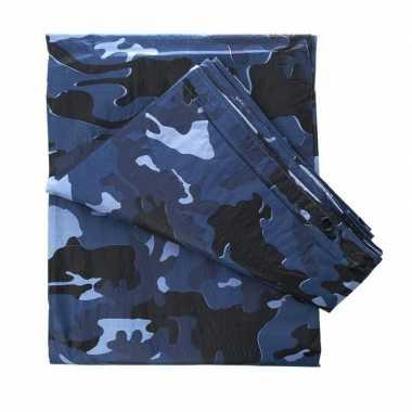 Leger thema feest camouflage afdekzeil / dekzeil bij meter