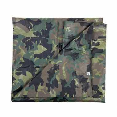 Leger thema feest camouflage afdekzeil groen , bij meter