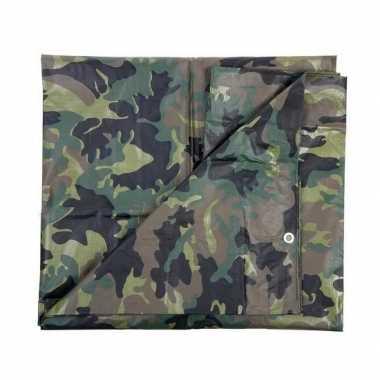 Leger thema feest camouflage afdekzeil groen bij meter