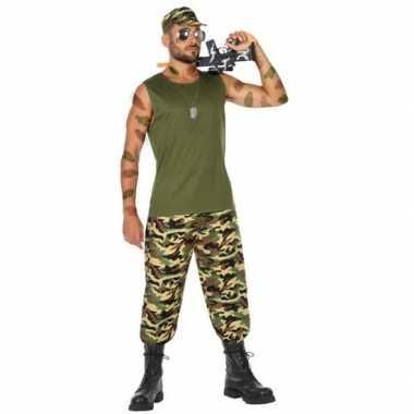 Militair/soldaat verkleed pak/kostuum heren