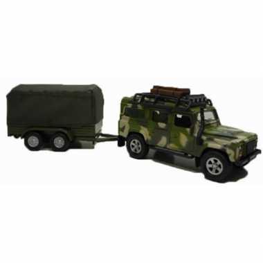 Militaire landrover aanhangwagen