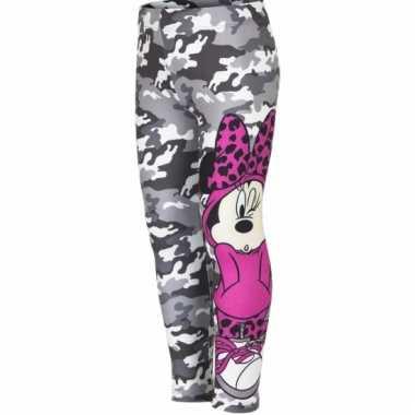 Minnie mouse legging grijs meisjes