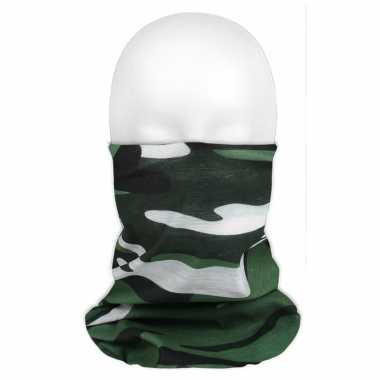 Multifunctionele morf sjaal camouflage groen volwassen
