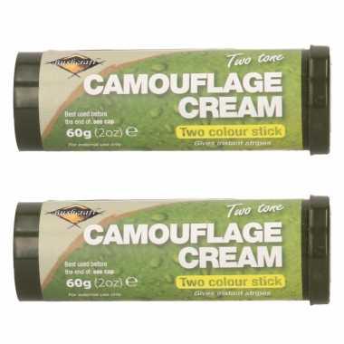 Pakket stuks bruine groene camouflage creme stift gram 10265627