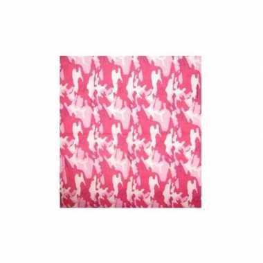 Roze bandana camouflage print