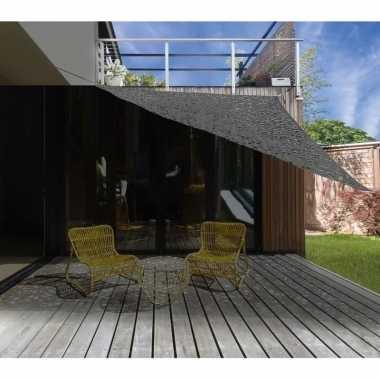 Schaduwdoek zonnescherm driehoek grijs camouflage meter