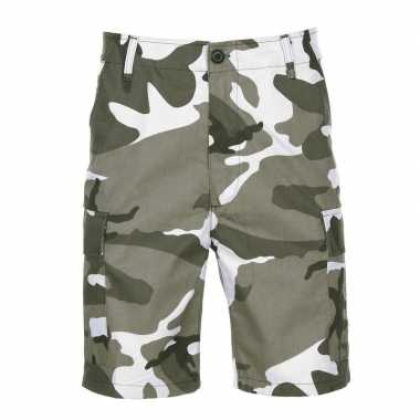 Shorts urban camouflage print