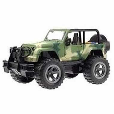 Speelgoed legergroene jeep wrangler auto