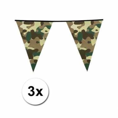 X camouflage vlaggenlijn meter