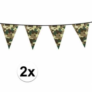 X camouflage vlaggenlijnen meter