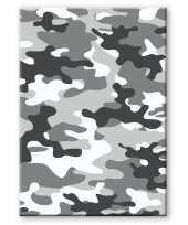 Camouflage legerprint luxe schrift notitieboek grijs gelinieerd a formaat 10307269
