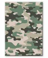Camouflage legerprint luxe wiskunde schrift notitieboek groen ruitjes mm a formaat