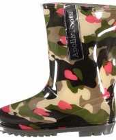Camouflage meiden regenlaarzen hartjes