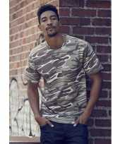 Camouflage t-shirt heren