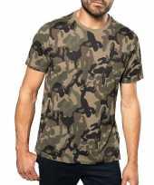 Camouflage t-shirt korte mouwen heren herenkleding