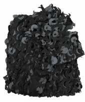 Camouflagenet zwart grijs bij meter