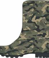 Groene peuter kinder regenlaarzen camouflage leger print