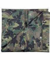 Leger thema feest camouflage afdekzeil groen bij meter 10162165