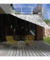 Schaduwdoek zonnescherm driehoek wit camouflage meter
