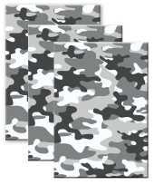 Set stuks camouflage legerprint luxe schrift notitieboek grijs gelinieerd a formaat 10307291