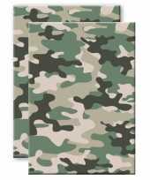 Set stuks camouflage legerprint luxe schrift notitieboek groen gelinieerd a formaat 10307293