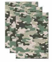 Set stuks camouflage legerprint luxe schrift notitieboek groen gelinieerd a formaat 10307294