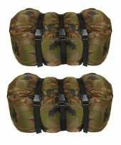 Set stuks warme persoons mummie slaapzakken camouflage print bij 10220360
