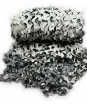 Voordeelset stuks camouflage netten zwart wit grijs bij meter