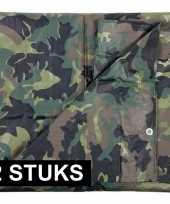 X groene camouflage afdekzeilen dekzeilen bij meter 10165575